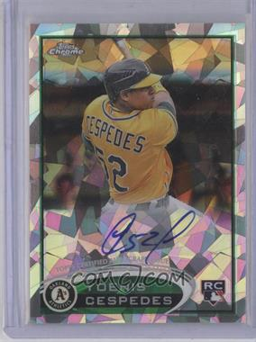2012 Topps Chrome - Rookie Autograph - Crystal Atomic Refractor #180 - Yoenis Cespedes /10
