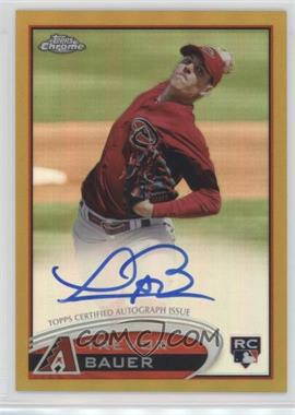 2012 Topps Chrome - Rookie Autograph - Gold Refractor #TB - Trevor Bauer /50