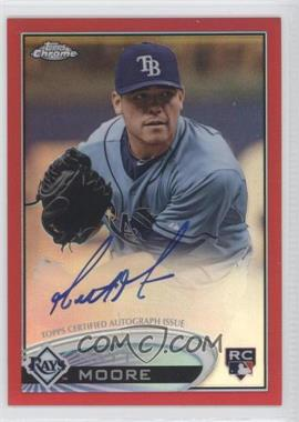 2012 Topps Chrome - Rookie Autograph - Red Refractor #160 - Matt Moore /25