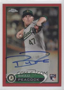 2012 Topps Chrome - Rookie Autograph - Red Refractor #163 - Brad Peacock /25