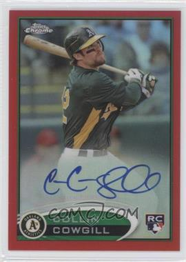 2012 Topps Chrome - Rookie Autograph - Red Refractor #178 - Collin Cowgill /25