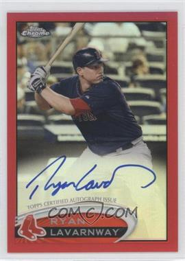 2012 Topps Chrome - Rookie Autograph - Red Refractor #5 - Ryan Lavarnway /25