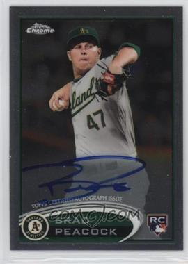 2012 Topps Chrome - Rookie Autograph #163 - Brad Peacock