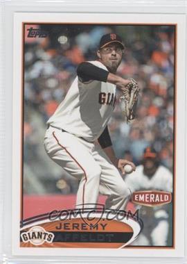 2012 Topps Emerald Nuts San Francisco Giants - [Base] #SF1 - Jeremy Affeldt