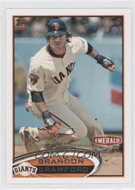 2012 Topps Emerald Nuts San Francisco Giants - [Base] #SF19 - Brandon Crawford
