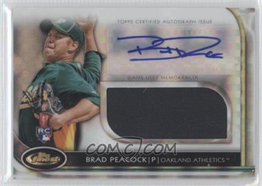 2012 Topps Finest - Autographed Jumbo Relic Rookies - X-Fractor #AJR-BP - Brad Peacock /299