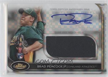 2012 Topps Finest - Autographed Jumbo Relic Rookies - X-Fractor #AJR-BP - Brad Peacock /299