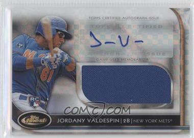 2012 Topps Finest - Autographed Jumbo Relic Rookies - X-Fractor #AJR-JVN - Jordany Valdespin /299