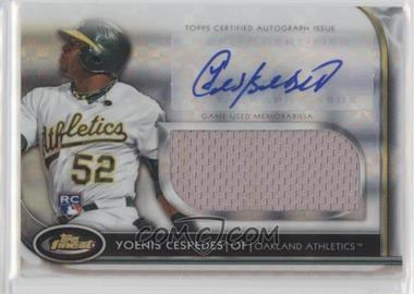 2012 Topps Finest - Autographed Jumbo Relic Rookies - X-Fractor #AJR-YC - Yoenis Cespedes /299