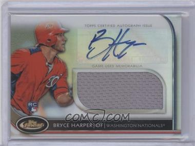 2012 Topps Finest - Autographed Jumbo Relic Rookies #AJR-BH - Bryce Harper