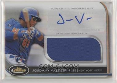 2012 Topps Finest - Autographed Jumbo Relic Rookies #AJR-JVN - Jordany Valdespin