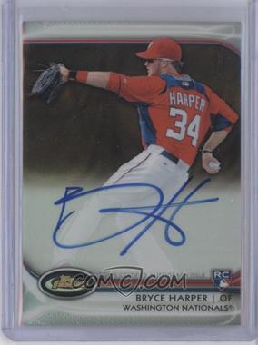 2012 Topps Finest - Autographed Rookies - Gold Refractor #AR-BH - Bryce Harper /50