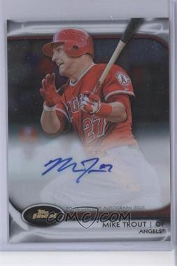 2012 Topps Finest - Autographed Rookies - Redemption Exchange #AR-MT - Mike Trout /100