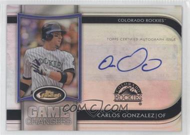 2012 Topps Finest - Game Changers Autographs #GCA-CG - Carlos Gonzalez /10