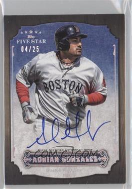 2012 Topps Five Star - Active Player Autographs - Rainbow #FSA-AG - Adrian Gonzalez /25