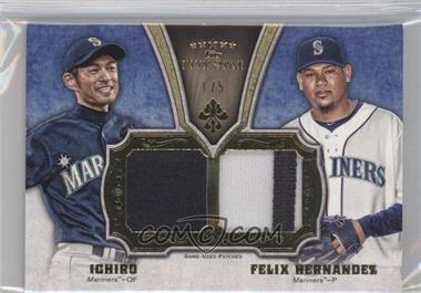 2012 Topps Five Star - Active Player Dual Patches #FSDP-IH - Felix Hernandez, Ichiro Suzuki /5