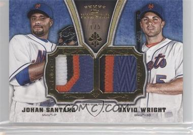 2012 Topps Five Star - Active Player Dual Patches #FSDP-SW - David Wright, Johan Santana /5