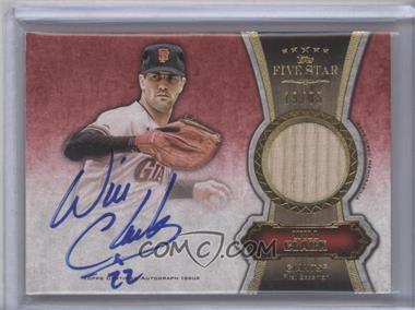 2012 Topps Five Star - Autographed Relics - Gold #FSAR-WC - Will Clark /55