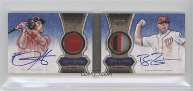 2012 Topps Five Star - Dual Autographed Patch Books #FSBDAP-HZ - Bryce Harper, Ryan Zimmerman /10