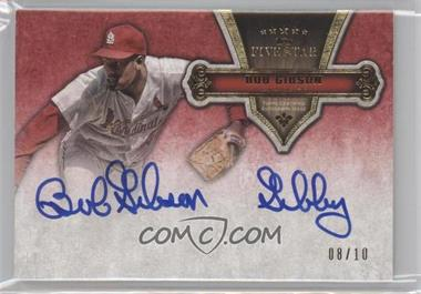 2012 Topps Five Star - Quotable Autographs Retired Players #FSQA-BG - Bob Gibson /10