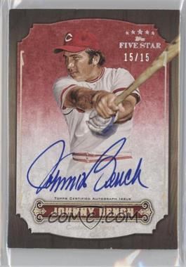 2012 Topps Five Star - Retired Player Autographs - Rainbow #FSA-JB - Johnny Bench /25