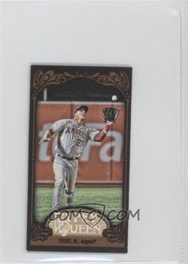 2012 Topps Gypsy Queen - [Base] - Mini Black #336 - Mike Trout