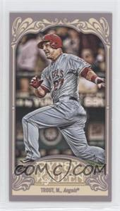 2012 Topps Gypsy Queen - [Base] - Mini Gypsy Queen Back #195 - Mike Trout