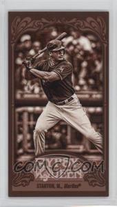 2012 Topps Gypsy Queen - [Base] - Mini Sepia #147 - Giancarlo Stanton /99