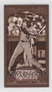 2012 Topps Gypsy Queen - [Base] - Mini Sepia #342 - Darryl Strawberry /99