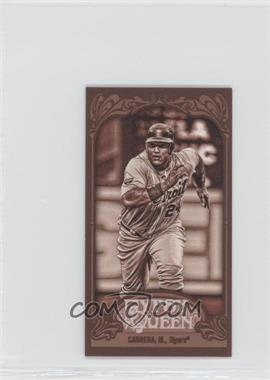 2012 Topps Gypsy Queen - [Base] - Mini Sepia #50 - Miguel Cabrera /99