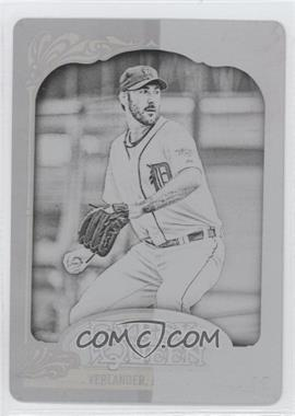 2012 Topps Gypsy Queen - [Base] - Printing Plate Black #130 - Justin Verlander /1