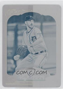 2012 Topps Gypsy Queen - [Base] - Printing Plate Cyan #130 - Justin Verlander /1