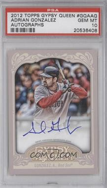 2012 Topps Gypsy Queen - Certified Autograph - [Autographed] #GQA-AG - Adrian Gonzalez [PSA 10]