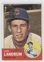 Don Landrum, Ron Santo (Photo is Ron Santo)