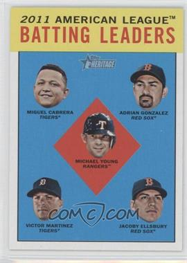 2012 Topps Heritage - [Base] - Black #HP92 - Adrian Gonzalez, Michael Young