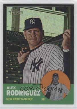 2012 Topps Heritage - [Base] - Chrome Black Refractor #HP43 - Alex Rodriguez /63