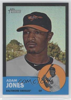 2012 Topps Heritage - [Base] - Chrome Black Refractor #HP45 - Adam Jones /63