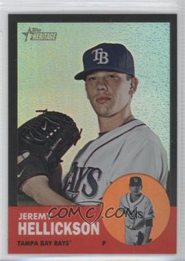 2012 Topps Heritage - [Base] - Chrome Black Refractor #HP57 - Jeremy Hellickson /63