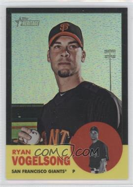 2012 Topps Heritage - [Base] - Chrome Black Refractor #HP69 - Ryan Vogelsong /63