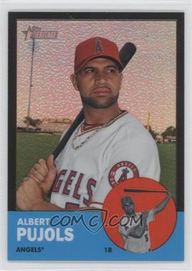 2012 Topps Heritage - [Base] - Chrome Black Refractor #HP8 - Albert Pujols /63