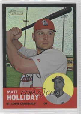 2012 Topps Heritage - [Base] - Chrome Black Refractor #HP81 - Matt Holliday /63