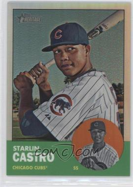 2012 Topps Heritage - [Base] - Chrome Refractor #HP80 - Starlin Castro /563