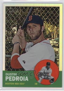 2012 Topps Heritage - [Base] - Chrome Refractor #HP9 - Dustin Pedroia /563