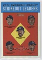 AL Strikeout Leaders (Justin Verlander, C.C. Sabathia, James Shields, Felix Her…