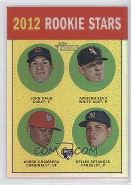 2012 Topps Heritage - [Base] - Chrome Refractor #HP96 - Addison Reed, Adron Chambers, Dellin Betances /563