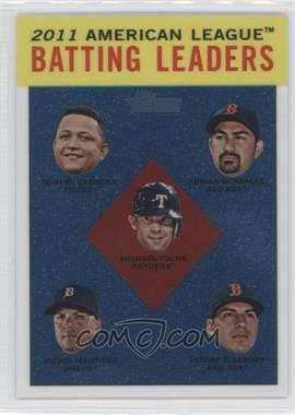 2012 Topps Heritage - [Base] - Chrome #HP92 - Adrian Gonzalez, Michael Young, Jacoby Ellsbury, Victor Martinez, Miguel Cabrera /1963