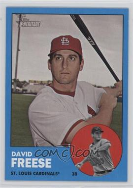 2012 Topps Heritage - [Base] #130.2 - David Freese (Wal-Mart Blue)