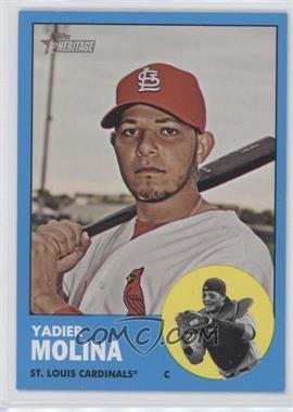 2012 Topps Heritage - [Base] #172.2 - Yadier Molina (Wal-Mart Blue)