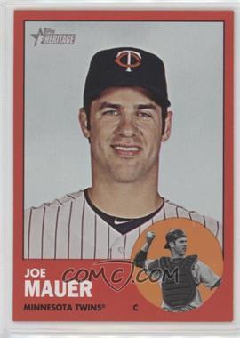 2012 Topps Heritage - [Base] #186.3 - Joe Mauer (Target Red)
