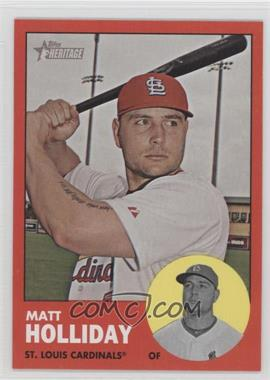 2012 Topps Heritage - [Base] #190.2 - Matt Holliday (Target Red)
